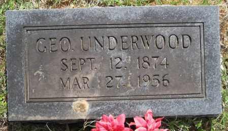 UNDERWOOD, GEORGE - Lonoke County, Arkansas   GEORGE UNDERWOOD - Arkansas Gravestone Photos