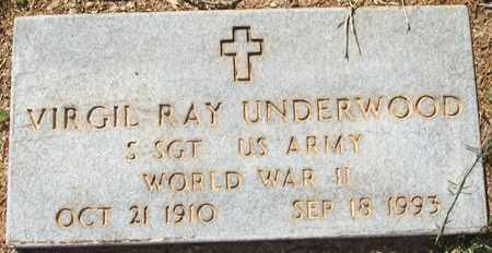 UNDERWOOD (VETERAN WWII), VIRGIL RAY - Lonoke County, Arkansas | VIRGIL RAY UNDERWOOD (VETERAN WWII) - Arkansas Gravestone Photos