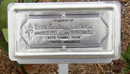 WALLER, VERA BEATRICE - Lonoke County, Arkansas   VERA BEATRICE WALLER - Arkansas Gravestone Photos