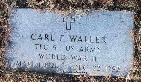 WALLER (VETERAN WWII), CARL F - Lonoke County, Arkansas | CARL F WALLER (VETERAN WWII) - Arkansas Gravestone Photos