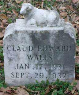 WALLS, CLAUD EDWARD - Lonoke County, Arkansas   CLAUD EDWARD WALLS - Arkansas Gravestone Photos
