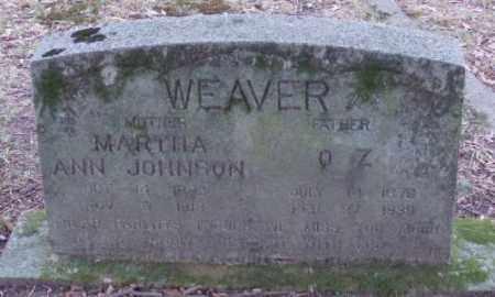 JOHNSON WEAVER, MARTHA - Lonoke County, Arkansas | MARTHA JOHNSON WEAVER - Arkansas Gravestone Photos