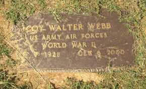 WEBB  (VETERAN WWII), COY WALTER - Lonoke County, Arkansas   COY WALTER WEBB  (VETERAN WWII) - Arkansas Gravestone Photos
