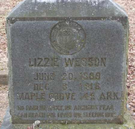 WESSON, LIZZIE - Lonoke County, Arkansas | LIZZIE WESSON - Arkansas Gravestone Photos