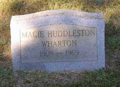WHARTON, MACIE HUDDLESTON - Lonoke County, Arkansas | MACIE HUDDLESTON WHARTON - Arkansas Gravestone Photos