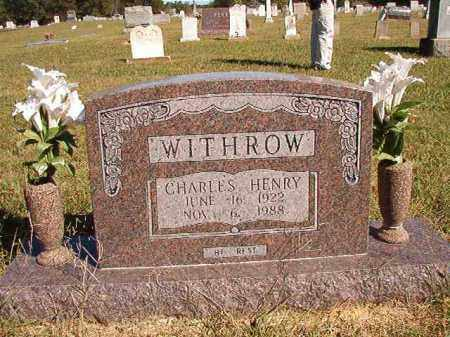 WITHROW, CHARLES HENRY - Lonoke County, Arkansas | CHARLES HENRY WITHROW - Arkansas Gravestone Photos