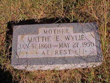 WYLIE, MATTIE E - Lonoke County, Arkansas | MATTIE E WYLIE - Arkansas Gravestone Photos