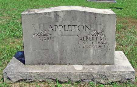 APPLETON, ALBERT M. - Madison County, Arkansas | ALBERT M. APPLETON - Arkansas Gravestone Photos