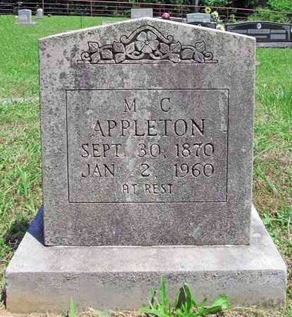 APPLETON, M. C. - Madison County, Arkansas | M. C. APPLETON - Arkansas Gravestone Photos