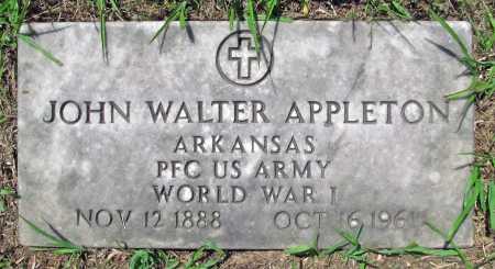 APPLETON (VETERAN WWI), JOHN WALTER - Madison County, Arkansas   JOHN WALTER APPLETON (VETERAN WWI) - Arkansas Gravestone Photos
