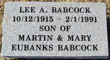 BABCOCK, LEE A. - Madison County, Arkansas | LEE A. BABCOCK - Arkansas Gravestone Photos