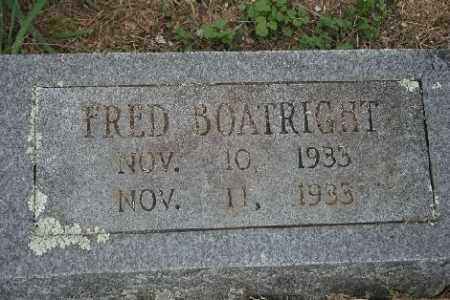 BOATRIGHT, FRED - Madison County, Arkansas | FRED BOATRIGHT - Arkansas Gravestone Photos