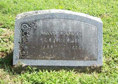 BOATRIGHT, JESSE GRAYSON - Madison County, Arkansas | JESSE GRAYSON BOATRIGHT - Arkansas Gravestone Photos