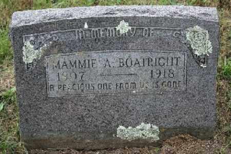 BOATRIGHT, MAMMIE A. - Madison County, Arkansas   MAMMIE A. BOATRIGHT - Arkansas Gravestone Photos