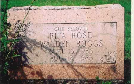 WALDEN BOGGS, RITA ROSE - Madison County, Arkansas | RITA ROSE WALDEN BOGGS - Arkansas Gravestone Photos