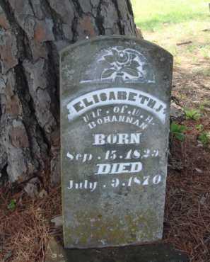 BOHANNAN, ELISABETH J. - Madison County, Arkansas   ELISABETH J. BOHANNAN - Arkansas Gravestone Photos