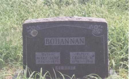 JONES BOHANNAN, MARY JANE - Madison County, Arkansas | MARY JANE JONES BOHANNAN - Arkansas Gravestone Photos