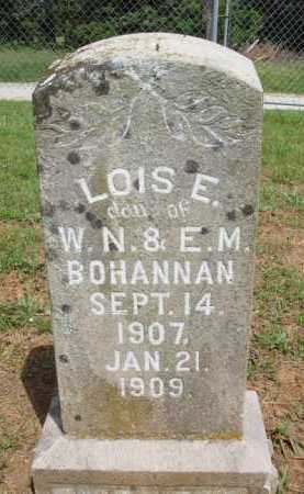 BOHANNAN, LOIS E. - Madison County, Arkansas   LOIS E. BOHANNAN - Arkansas Gravestone Photos