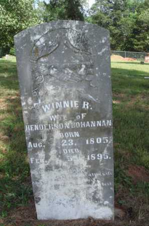 BOHANNAN, WINNIE R. - Madison County, Arkansas | WINNIE R. BOHANNAN - Arkansas Gravestone Photos