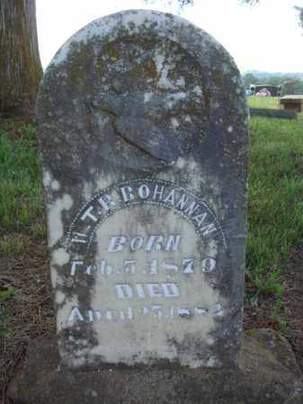 BOHANNAN, W. T. R. - Madison County, Arkansas | W. T. R. BOHANNAN - Arkansas Gravestone Photos