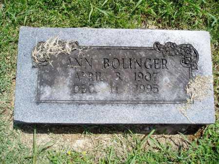 BOLINGER, ANN - Madison County, Arkansas   ANN BOLINGER - Arkansas Gravestone Photos