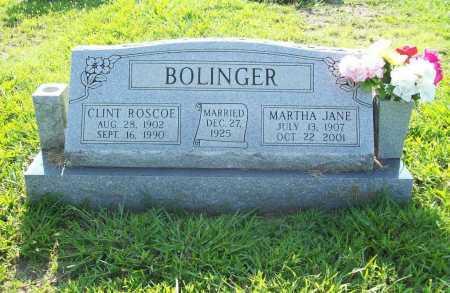 BOLINGER, MARTHA JANE - Madison County, Arkansas   MARTHA JANE BOLINGER - Arkansas Gravestone Photos