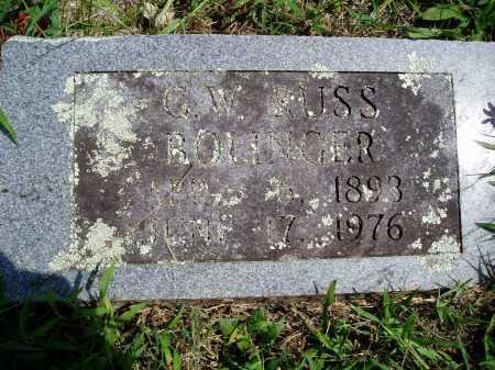 BOLINGER, G. W. RUSS - Madison County, Arkansas | G. W. RUSS BOLINGER - Arkansas Gravestone Photos