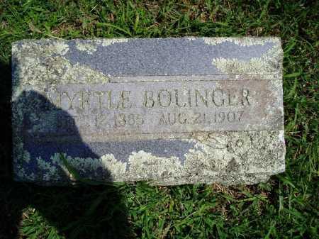 BOLINGER, MYRTLE - Madison County, Arkansas | MYRTLE BOLINGER - Arkansas Gravestone Photos