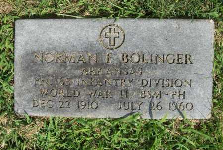 BOLINGER (VETERAN WWII), NORMAN E. - Madison County, Arkansas   NORMAN E. BOLINGER (VETERAN WWII) - Arkansas Gravestone Photos