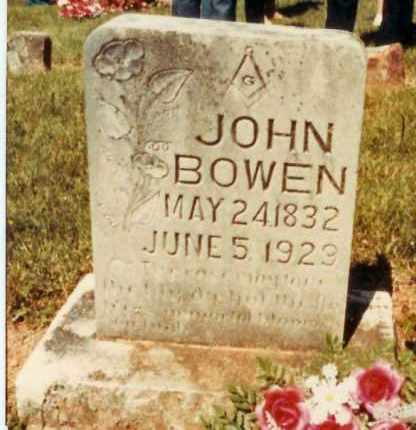 BOWEN (VETERAN CSA), JOHN G. - Madison County, Arkansas | JOHN G. BOWEN (VETERAN CSA) - Arkansas Gravestone Photos