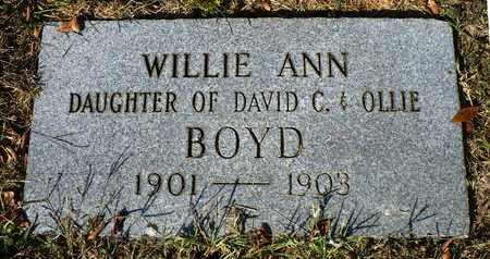 BOYD, WILLIE ANN - Madison County, Arkansas | WILLIE ANN BOYD - Arkansas Gravestone Photos