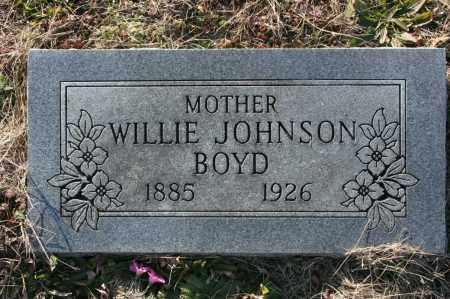 JOHNSON BOYD, WILLIE - Madison County, Arkansas | WILLIE JOHNSON BOYD - Arkansas Gravestone Photos