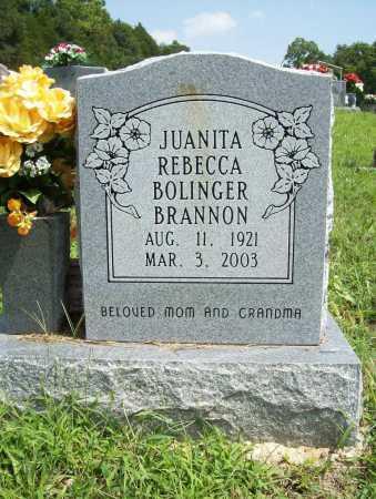 BOLINGER BRANNON, JUANITA REBECCA - Madison County, Arkansas | JUANITA REBECCA BOLINGER BRANNON - Arkansas Gravestone Photos