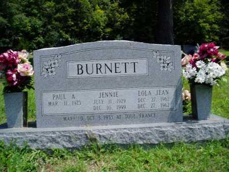 BURNETT, JENNIE - Madison County, Arkansas   JENNIE BURNETT - Arkansas Gravestone Photos