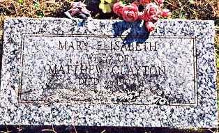 CLAYTON, MARY ELIZABETH - Madison County, Arkansas   MARY ELIZABETH CLAYTON - Arkansas Gravestone Photos