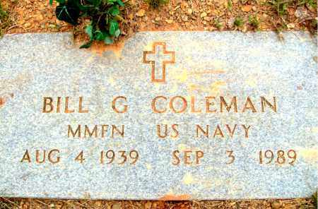 COLEMAN (VETERAN), BILL GORDON - Madison County, Arkansas | BILL GORDON COLEMAN (VETERAN) - Arkansas Gravestone Photos