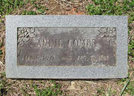 COMBS, ANNIE - Madison County, Arkansas   ANNIE COMBS - Arkansas Gravestone Photos
