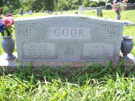 COOK, VENNIE - Madison County, Arkansas   VENNIE COOK - Arkansas Gravestone Photos