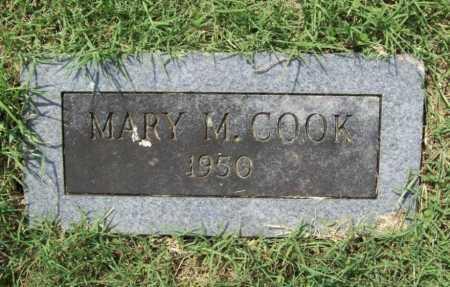 COOK, MARY M. - Madison County, Arkansas | MARY M. COOK - Arkansas Gravestone Photos