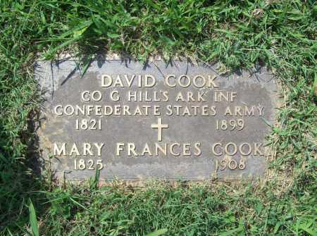 COOK (VETERAN CSA), DAVID - Madison County, Arkansas | DAVID COOK (VETERAN CSA) - Arkansas Gravestone Photos