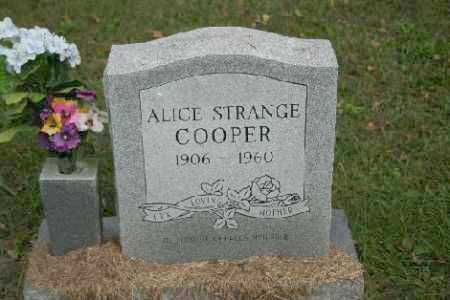 STRANGE COOPER, ALICE - Madison County, Arkansas | ALICE STRANGE COOPER - Arkansas Gravestone Photos