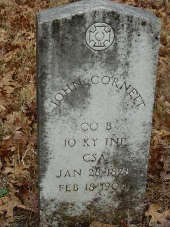 CORNETT (VETERAN CSA), JOHN - Madison County, Arkansas   JOHN CORNETT (VETERAN CSA) - Arkansas Gravestone Photos