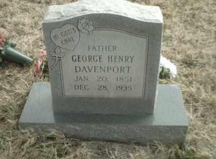 DAVENPORT, GEORGE HENRY - Madison County, Arkansas | GEORGE HENRY DAVENPORT - Arkansas Gravestone Photos