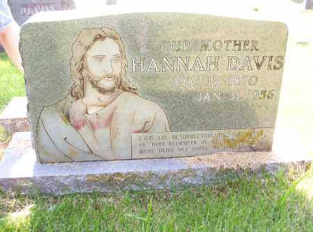 CRAIG DAVIS, HANNAH M. - Madison County, Arkansas | HANNAH M. CRAIG DAVIS - Arkansas Gravestone Photos