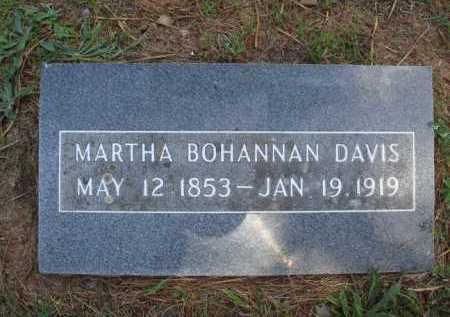 BOHANNAN DAVIS, MARTHA - Madison County, Arkansas | MARTHA BOHANNAN DAVIS - Arkansas Gravestone Photos