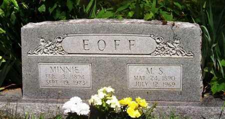 EOFF, MINNIE - Madison County, Arkansas | MINNIE EOFF - Arkansas Gravestone Photos