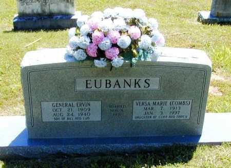 COMBS EUBANKS, VERSA MARIE - Madison County, Arkansas   VERSA MARIE COMBS EUBANKS - Arkansas Gravestone Photos