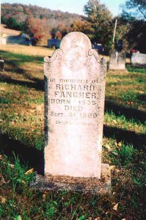 FANCHER, RICHARD - Madison County, Arkansas   RICHARD FANCHER - Arkansas Gravestone Photos
