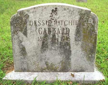 RITCHIE GABBARD, DESSIE - Madison County, Arkansas   DESSIE RITCHIE GABBARD - Arkansas Gravestone Photos