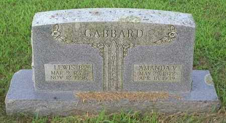 GABBARD, LEWIS B - Madison County, Arkansas | LEWIS B GABBARD - Arkansas Gravestone Photos